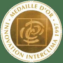 Médaille d'Or Interclima 1997 décernée pour l'invention de la gaine textile